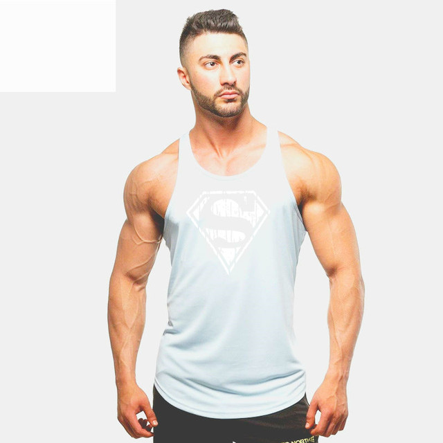 Fashion New Shirts Stretchy Sleeveless T Shirt Casual Tank Top Men's bodybuilding Fitness Vest T-Shirt TX97-An01-E