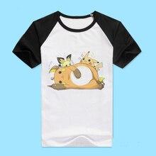 Pokemon t-shirt anime nette pikachu kurzarm clothing männer frauen baumwolle t-shirt t-stücke
