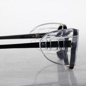 Image 2 - 2 زوج أغطية حماية للنظارات SideShields للنظارات قصر النظر السلامة رفرف الجانب ورقة واقية مكافحة الرمال سبلاش
