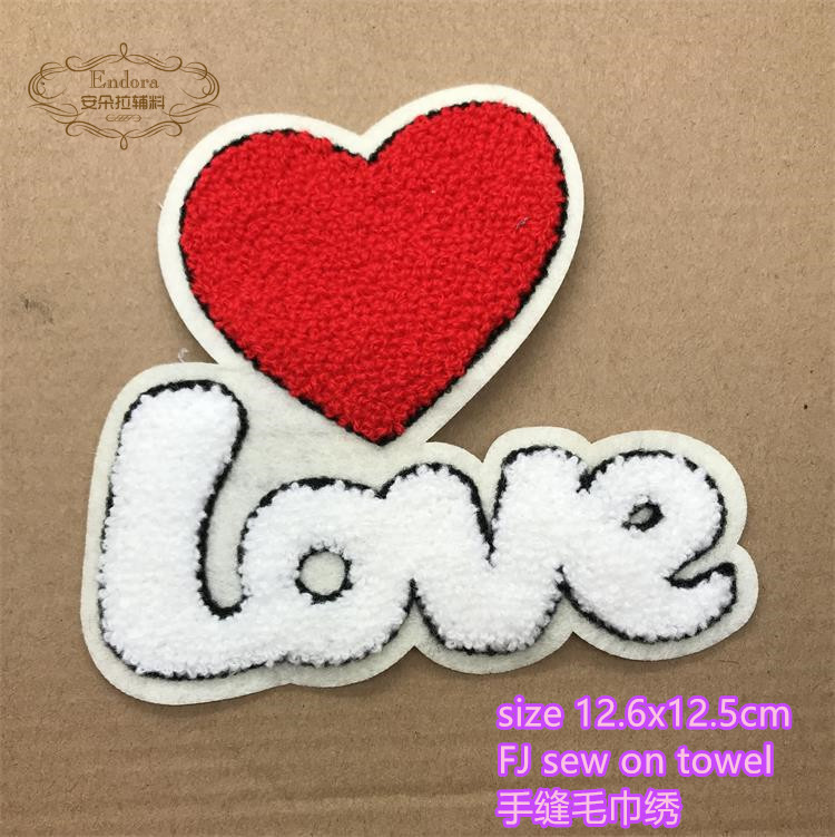 Sequins Heart Star Motif Iron//Sew On Embroidered Patch Cloth Badge Applique FJ