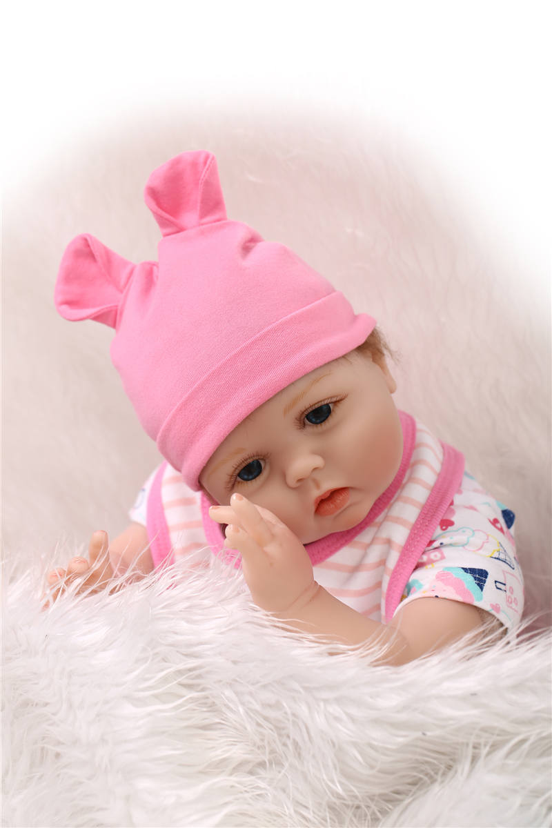 original npk 55cm 22'' silicone reborn baby dolls with very cute