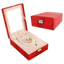 Buy red leather jewelry box and get free shipping on AliExpresscom