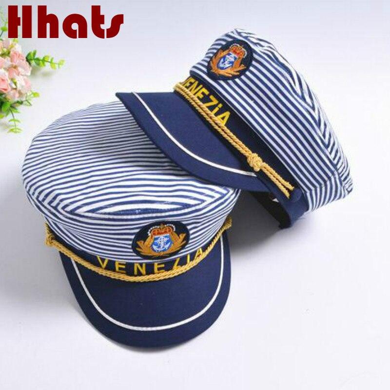 6772211c43e1 Que en la ducha a rayas azul marino sombrero militar gorra a la moda  marinero plano capitán sombrero familia marinero gorra hueso mujeres  hombres ...