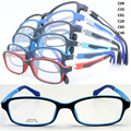wholesale 1009 kid full-rim with durable 180 degree flexible TR90 dual color rectangle optical glasses frame  free shipping