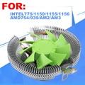 Cpu cooler, ventoinha do cpu, para intel lga 775/1155/1156, para amd 754/939/am2/am2 +/am3/fm1, cpu radiador