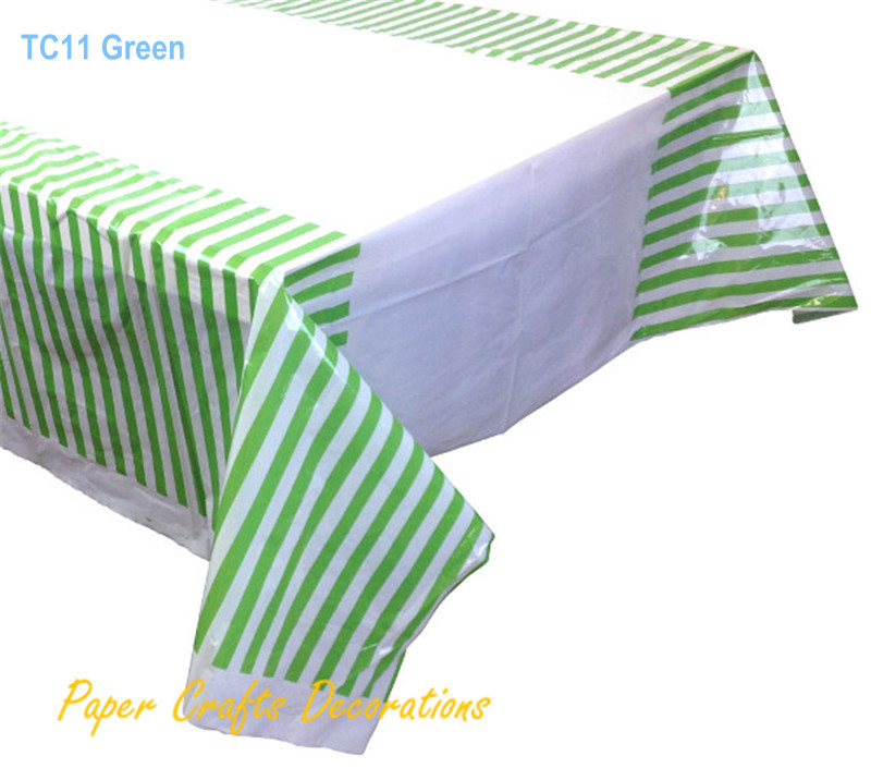 108 180cm 70 43 Black Striped Plastic Tablecloths Table Cover Themed Birthday Party Decorations In Disposable Tableware From Home Garden On