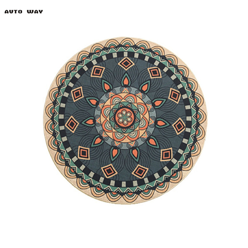Nordic ethnic style Round carpet European Living room hanging basket cushions bedside round mat Computer chair cotton rug