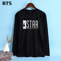 BTS The Flash Star Plus Size T Shirt Women Long Sleeves Harajuku Fashion Casual Female Ladies