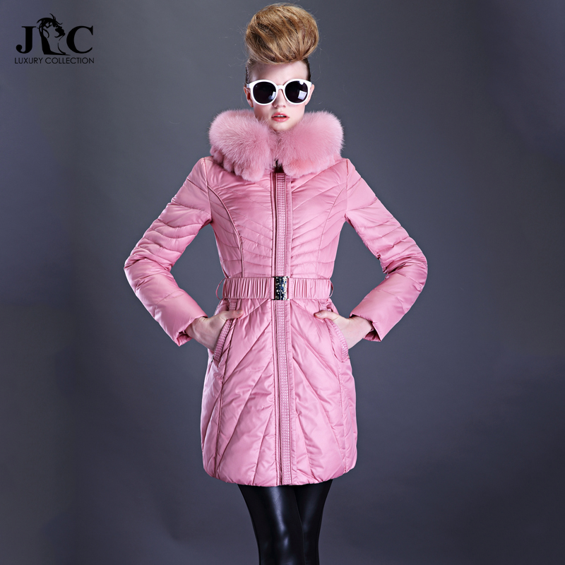 2015 new Hot winter Thicken Warm Woman Down jacket Coat Parkas Outerwear Hooded fox Fur collar Luxury High long plus size 3XXXL 2015 new hot winter thicken warm woman down jacket coat parkas outerwear hooded fox fur collar luxury long plus size 2xxl goose