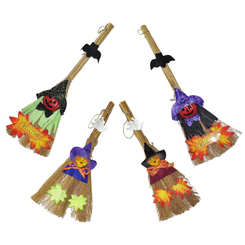Halloween Witch Pumpkin Broom Magic Cosplay Decoration