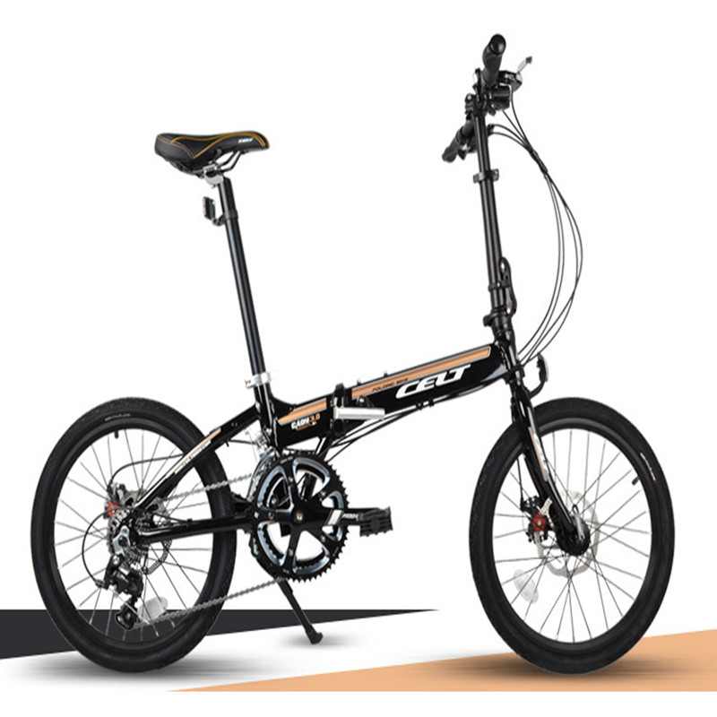 20 Inch City Leisure Folding Bicycle Double Disc Brake Neutral CELT Cushion Student