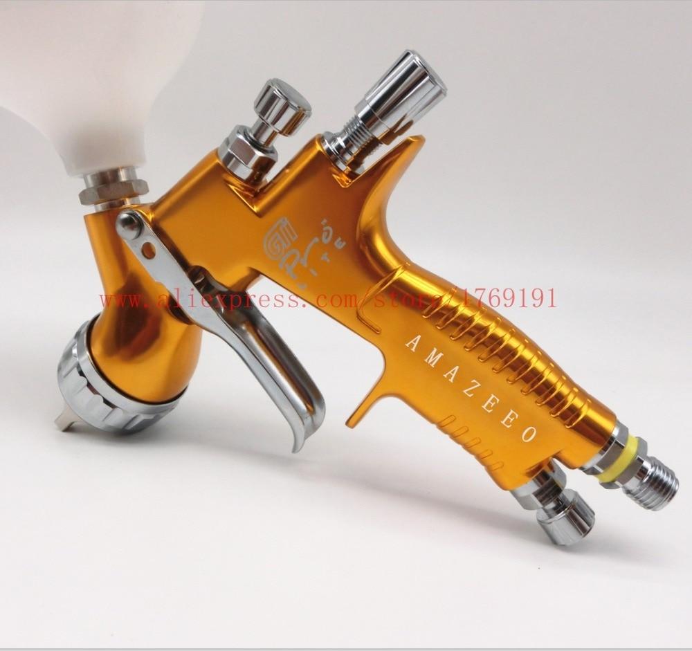 Image 2 - High quality professional Gti pro lite golden painting gun TE20 / T110 1.3mm nozzle spray gun paint gun waterbased air spray gun-in Spray Guns from Tools on
