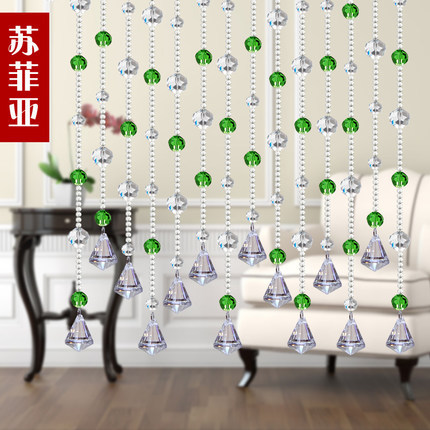 2016 Nieuwe kristal kralen gordijn 20 meter / partij deur veranda - Thuis textiel