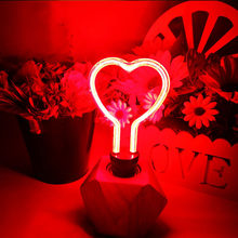 Heart Star Butterfly Lotus LED Night Lights Visual Illusion E27 220V LED Night Lamp for kids Gifts Home Table Decor(China)