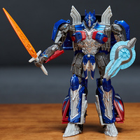 Original 18cm Transformation The Last Knight Optimus Prime Grimlock Megatron VOYAGER Robot Car Plastic Action Figure Toys
