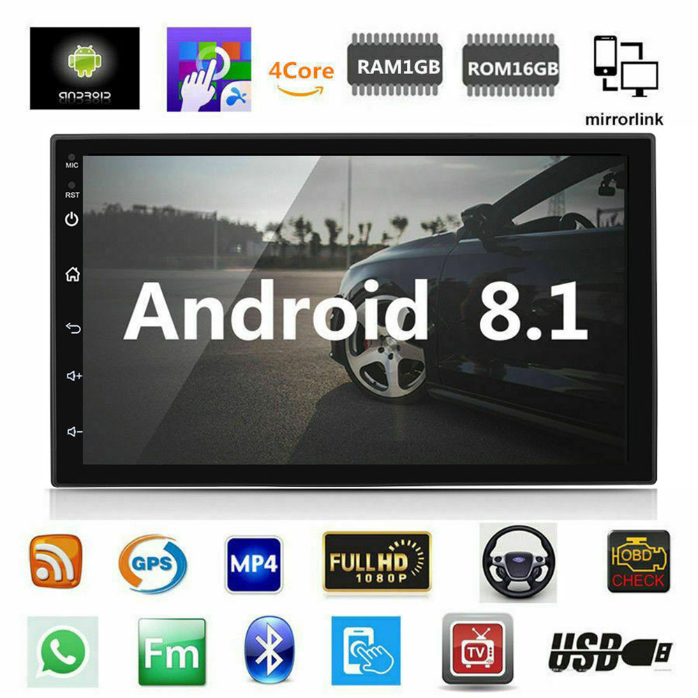 Universal 2Din Car Multimedia Player 7 Android 8.1 Car Radio Stereo FM MP3 MP5 Player Autoradio GPS Navi WiFi USB FMUniversal 2Din Car Multimedia Player 7 Android 8.1 Car Radio Stereo FM MP3 MP5 Player Autoradio GPS Navi WiFi USB FM