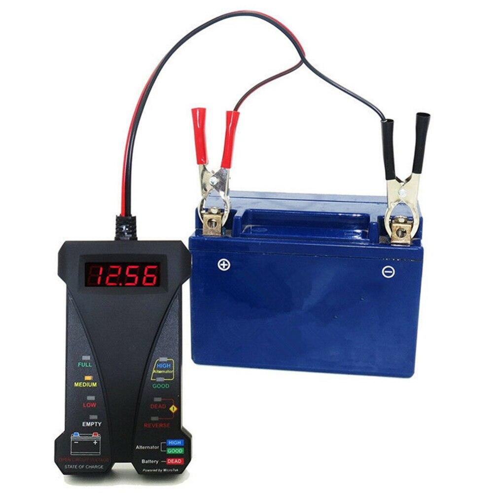 12 В умный светодиодный цифровой тестер батареи Вольтметр генератор анализатор для автомобилей с 30 амперными батарейными зажимами защита о...