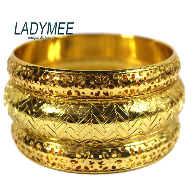 LADYMEE Aliexpress Love Bracelet Bangles Indian Jewelry Gold Color