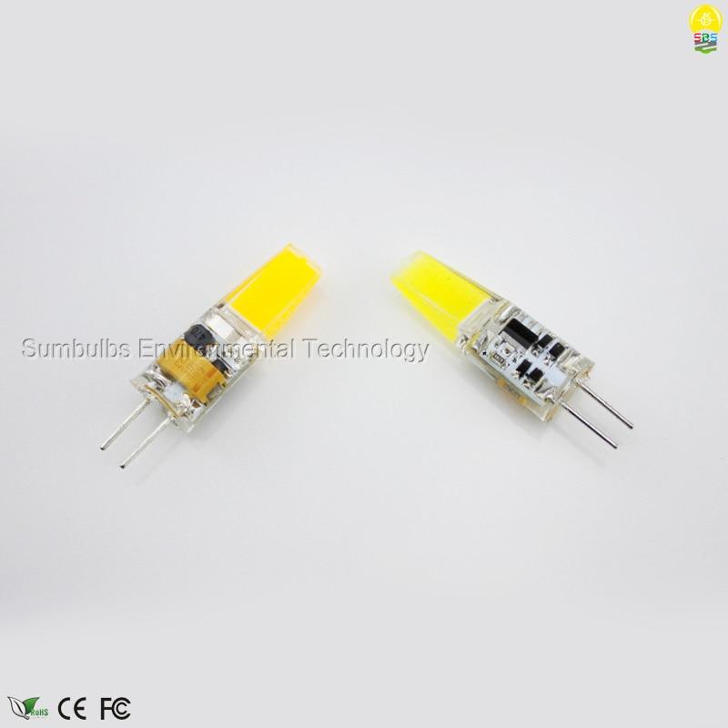DC12V AC220V G4 LED Lamp 6W Ultra Bright Mini Lampada G4 COB LED Bulb Lights Replace Halogen Chandelier Lamps Warm/ Cold White