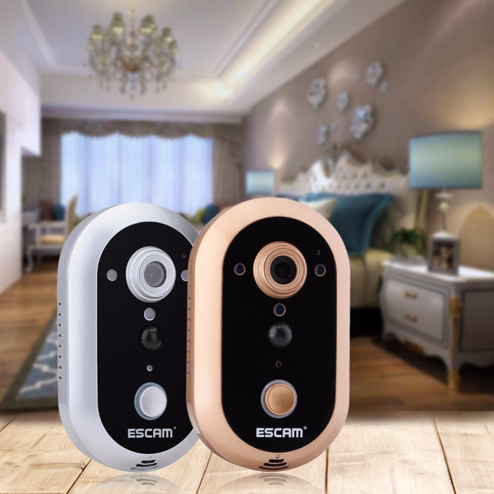 Smart WiFi Doorbell Video Camera HD 720P Phone Door Intercom IR Night Vision zilnk video intercom hd 720p wifi doorbell camera smart home security night vision wireless doorphone with indoor chime silver