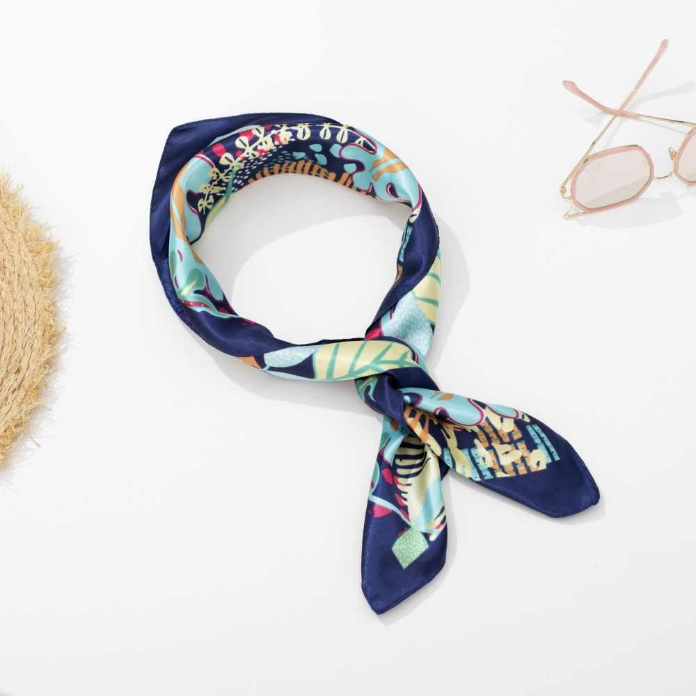 Bufanda de moda femenina decoración salvaje pequeños cuadrados primavera otoño profesional pequeña bufanda chal femenino bufanda multifunción