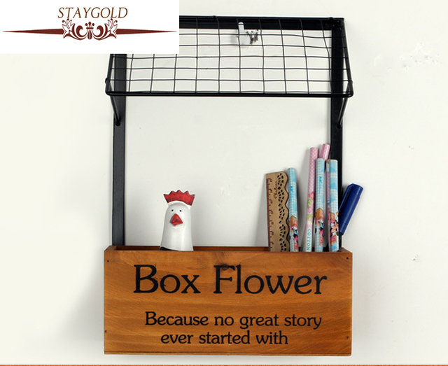 Statgold Zakka Shelves Kitchen Flower Shelf Storage Home Decoration  Accessories Fashion Wood Crafts Vintage Home Decor