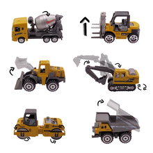Alloy Mini Engineering Car Model 1:64 Metal Diecast Engineering Toy Vehicle Car Toy Dump Truck Forklift Excavator Play Set Gift