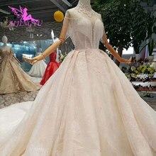 AIJINGYUชุดแต่งงานลูกไม้ที่กำหนดเองชุดเจ้าสาวสีขาวชุดออนไลน์Shopจีนแต่งงานชุด