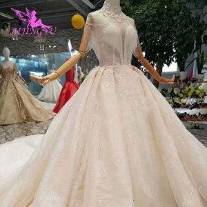 Image 1 - Aijingyu rendas vestidos de casamento vestido de noiva personalizado branco vestidos loja online china vestido de casamento