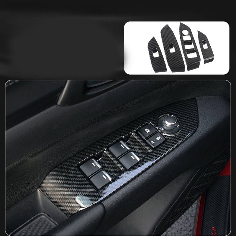 Carbon Fiber Armrest Trim Interior Frame Decoration Auto Moulding For MAZDA CX-5 CX5 2018 KF for mazda cx 5 cx5 2017 2018 kf 2nd gen armrest console pad cover cushion support box armrest top mat liner car stickers