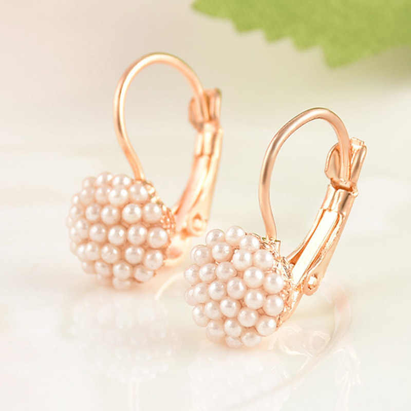 Elegant Simulation Pearl Beads Ear Stud Earrings for women Fashion jewelry kolczyki boucle d'oreille femme aretes de mujer