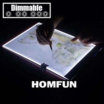 С регулируемой яркостью! Ультратонкий A4 светодиодный свет планшет относится к ЕС/Великобритании/Австралии/США/USB разъем алмаз для алмазной ... >> Homfun Official Store
