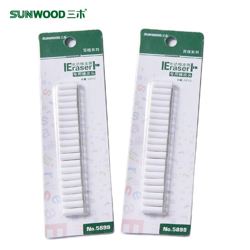 LifeMaster Sunwood 5899 Universal Eraser Refills 5*15mm For Sunwood 5880 Electrical Pencil Rubber 4 Set/lot