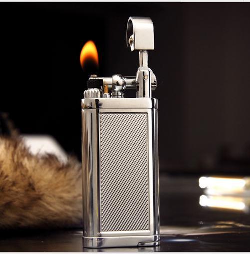 Briquet IMCO Stainless-Steel-Pipe-gas-lighter-creative-metal-inflatable-cigarette-lighter-Butane-oblique-briquet-Gadgets-men