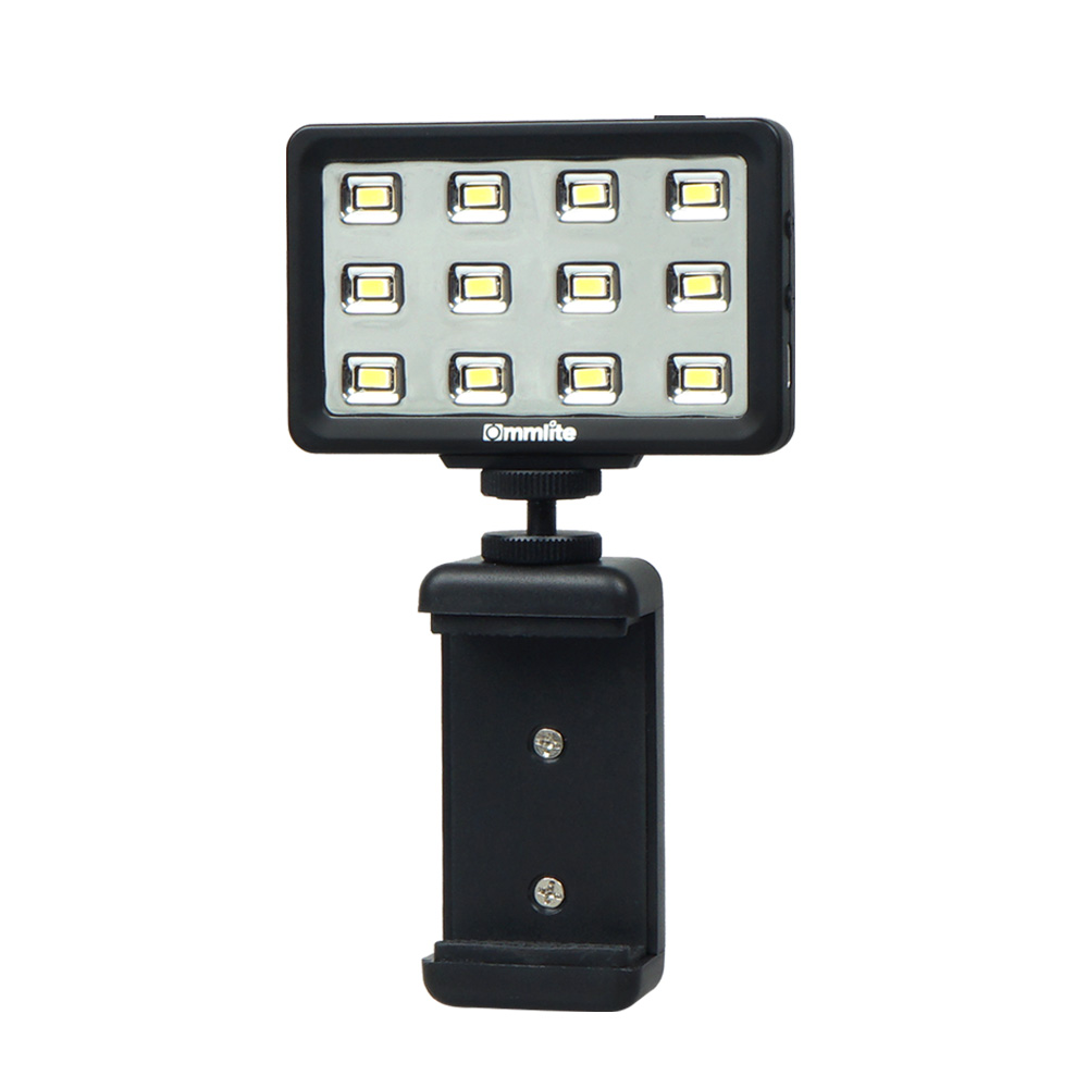 New Commlite CoMiray 12 Bulbs LED Video Light for Cellphone DSLR MONOPOD Gopro Cameras