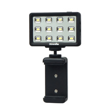лучшая цена New Commlite CoMiray 12 Bulbs LED Video Light for Cellphone DSLR MONOPOD Gopro Cameras
