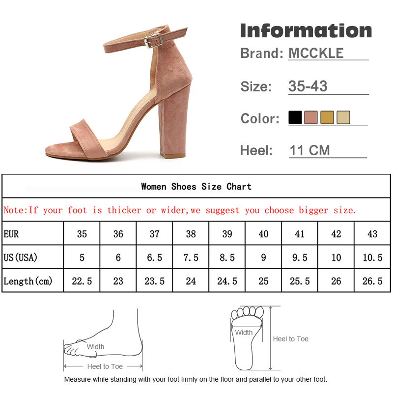 21c3b3e10d 2019 Summer Women Flock Square Heel Sandals High Heels Buckle Strap Female  Fashion Dress Woman Sandal Shoes For Girls Plus Size-in High Heels from  Shoes on ...