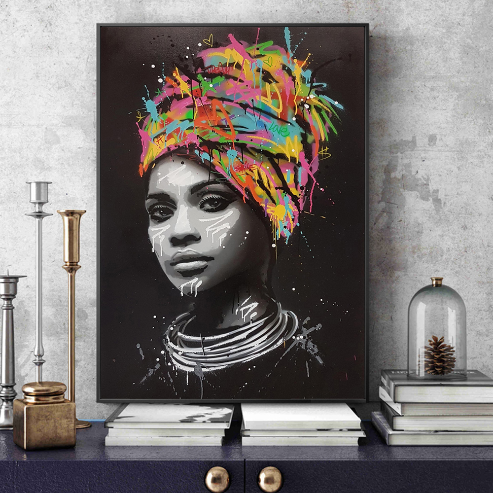 African Woman Wall Art Canvas Prints Modern Pop Art Canvas Paintings On The Wall Posters And Prints Portrait Pictures Home Decor