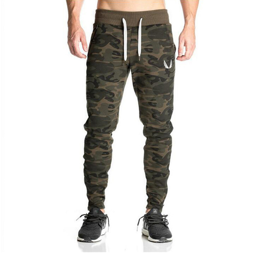 2018 New Sweatpants Mens Gasp Workout Bodybuilding Clothing Casual Camouflage Men Sweatpants Joggers Pants Skinny Trousers hot