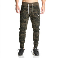 2018 New Sweatpants Mens Gasp Workout Bodybuilding Clothing Casual Camouflage Men Sweatpants Joggers Pants Skinny Trousers