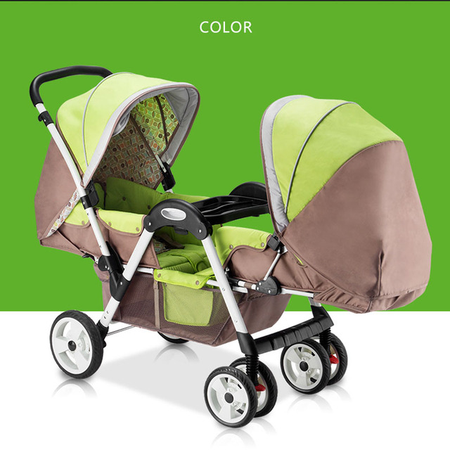 High quality Shinema face to face twins stroller 2 baby use pram SGS quality certification was approved