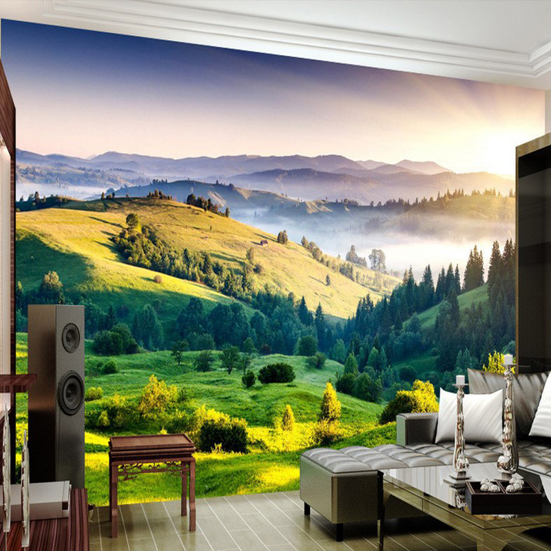 Custom photo wallpaper 3D wall painting sofa wallpaper living room TV background wallpaper grassland wallpaper mural