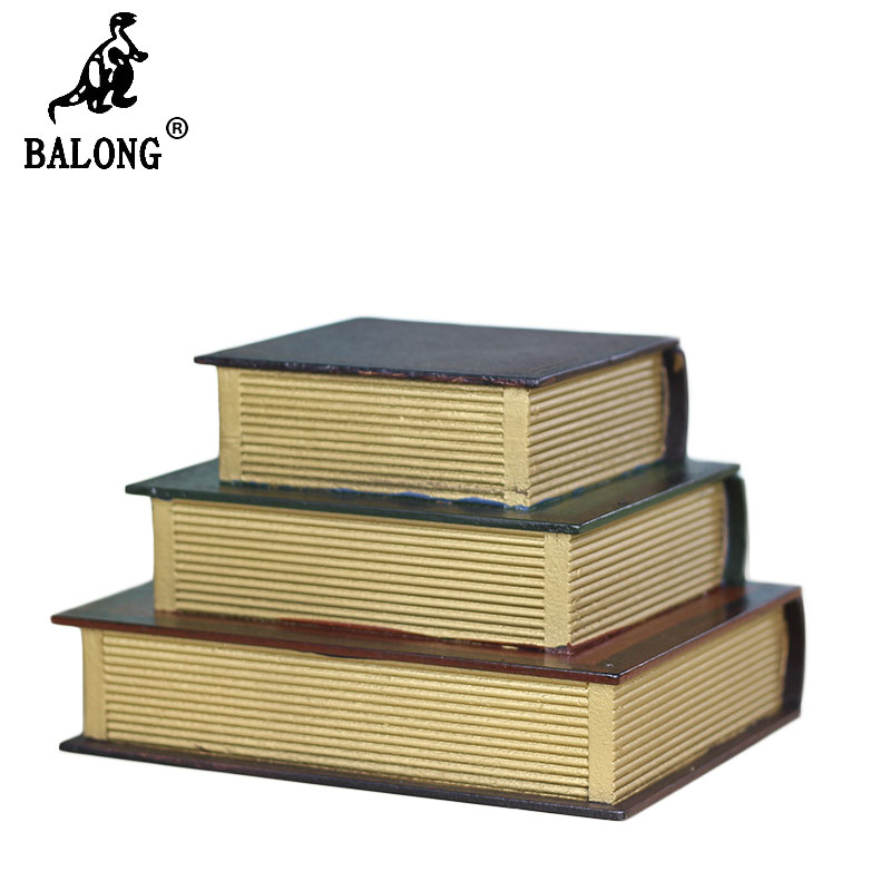 Retro Multilayer Book Design Wood Jewelry Box Stack Book Jewelry