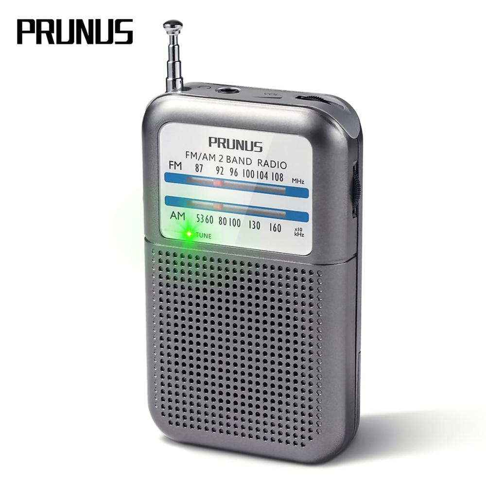 PRUNUS DE-333 Portable Radio Receiver FM AM SW Excellent Reception Mini Pocket Radio With Signal Indicator, AAA Battery