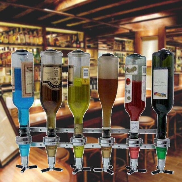 Montado Na Parede Do Vinho Licor Garrafas De Bebidas Dispenser Home Bar  Butler 6 Tiros Stand