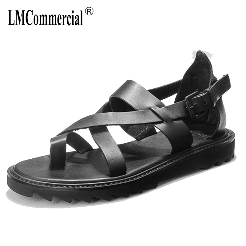 summer casual Genuine Leather mens shoes cowhide antiskid beach Rome sandals Sneakers Men Slippers Flip Flops casual outdoor