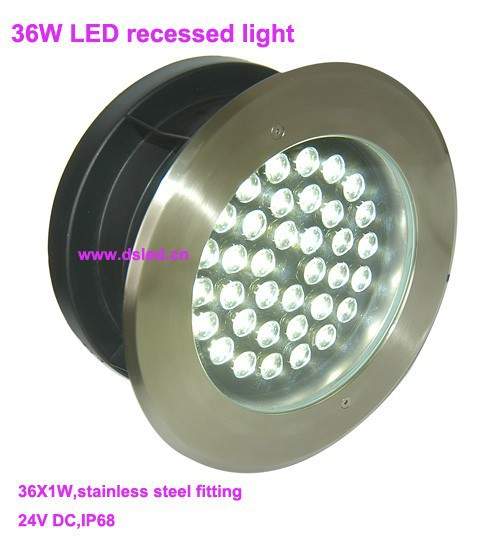 Free shipping by DHL!! Stainless steel 36W recessed underwater LED light,LED underwater light,IP68,D280mm,DS-11S-11-36W,24V DC