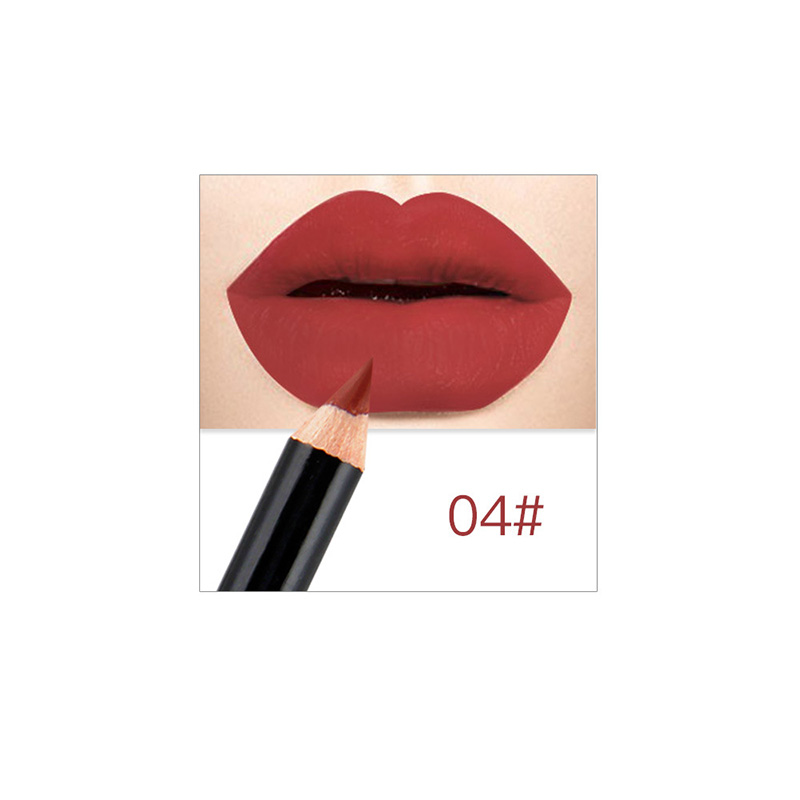 12 Colors Professional Lipliner Makeup Waterproof Lip Liner Pencil Set WH998 in Lip Liner from Beauty Health