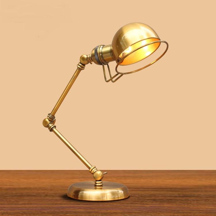 Amerikanische Mode Dekorative Led Retro Bronze Rocker Tisch Lampe Hotel Schlafzimmer Lampe Nacht Lampe Studie Lampe Fg357