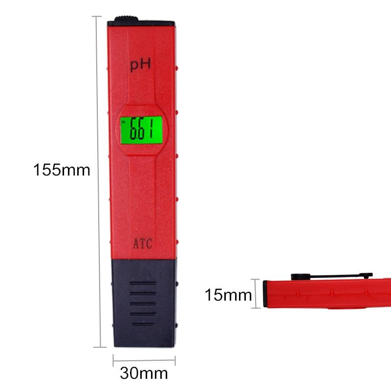 Pióro Cyfrowe akwarium Miernik temperatury PH Kompensacja ATC LCD - Przyrządy pomiarowe - Zdjęcie 3